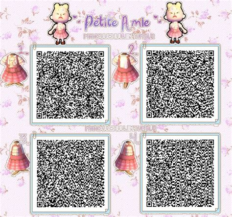 animal crossing pattern qr maker cute pink dress qr code animal crossing qr codes