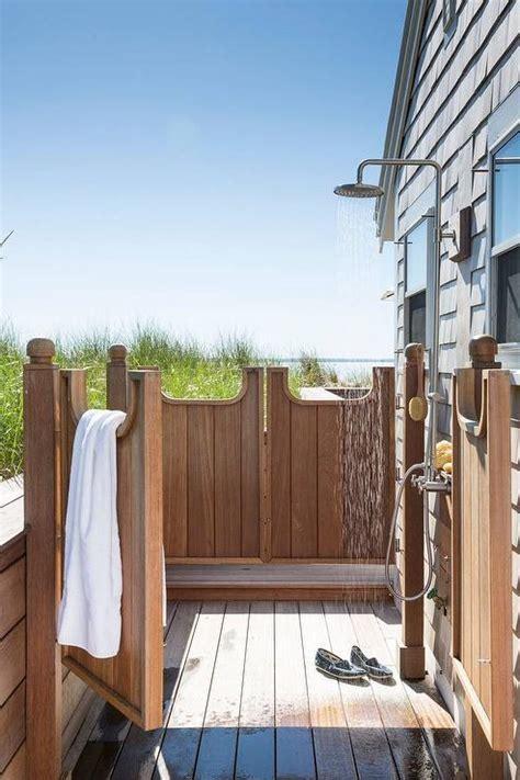 outdoor teak shower teak outdoor shower with swinging privacy doors