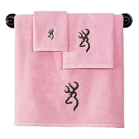 Browning Bathroom browning buckmark pink towel set