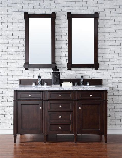 Bathroom Vanity No Top Contemporary 60 Inch Sink Bathroom Vanity Mahogany Finish No Top