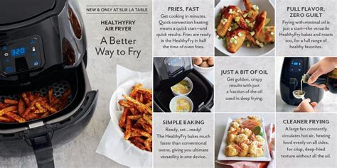 sur la table air fryer and only at sur la table healthyfry air fryer a