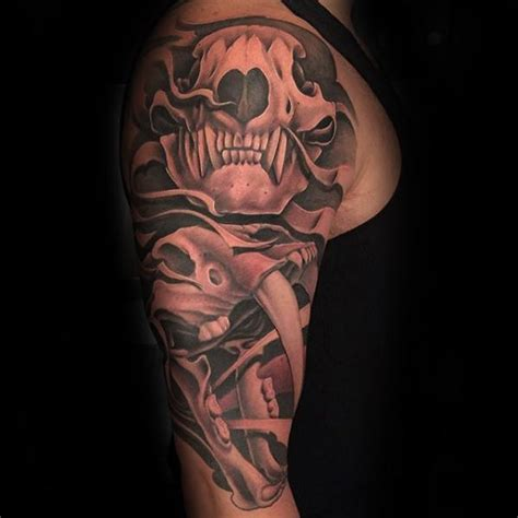 bear skull tattoo 50 skull designs for ursidae ink ideas