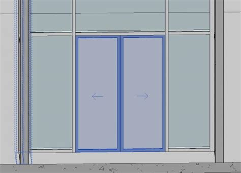 revit door in curtain wall revitcity com object curtain wall sliding door double