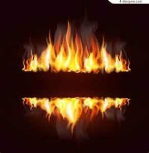 4 designer creative flame design vector material