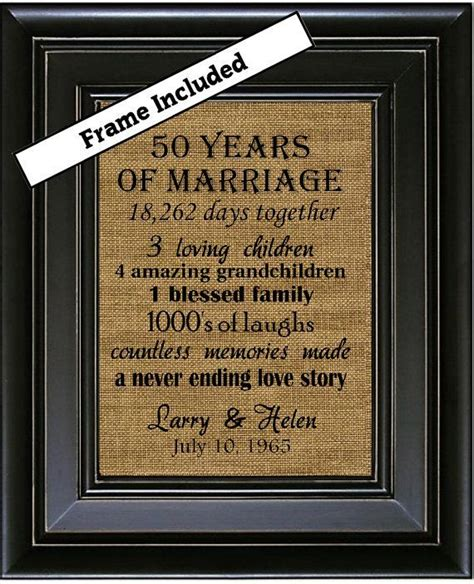 Wedding Gift 50 by 50th Wedding Anniversary 50th Anniversary Gifts 50th