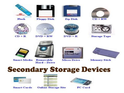 storage devices secondary storage devices