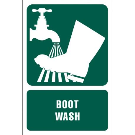 boat wash facility boot wash information sign