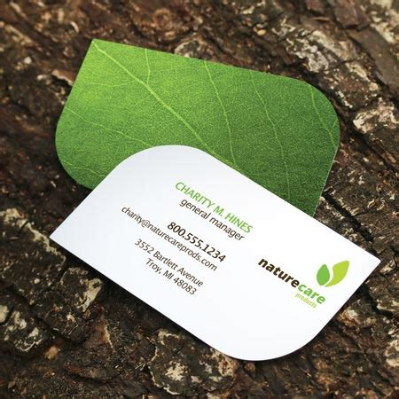 Leaf Business Card Template Business Cards Fast Printing Turnaround Uprinting