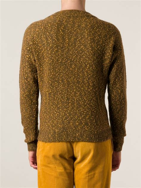 textured knit sweater gosha rubchinskiy textured knit sweater in brown for