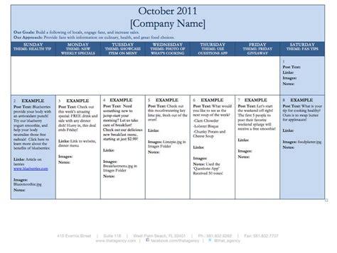facebook business content calendar template digital