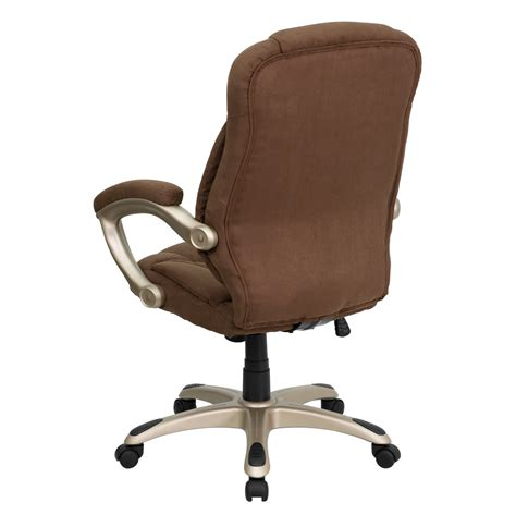 Microfiber Office Chair by High Back Brown Microfiber Upholstered Office