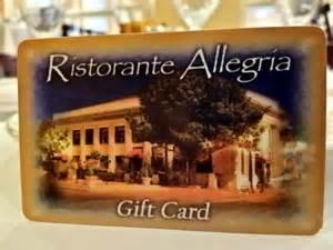 Napa Gift Cards - gift certificates ristorante allegria outstanding italian cuisine