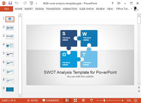 Best Swot Powerpoint Templates Swot Matrix Template Powerpoint