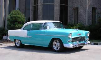 1955 Chevrolet Belair Custom Turquoise White 1955 Chevy Bel Air 2 Door Hardtop