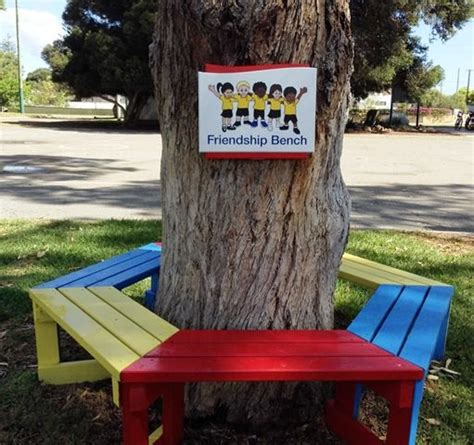 bench signs cervantes primary school friendship bench sign danthonia designs au