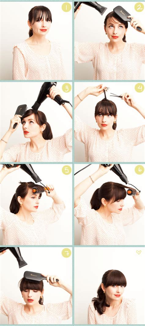 diy wispy bangs hairstylegalleries com diy blow drying heavy bangs pictures photos and images