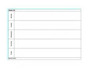 Blank Calendar Template Monday Through Friday by Blank Weekly Calendar Monday Through Friday Calendar
