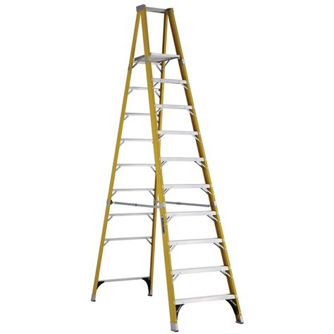 louisville ladder 10 ft fiberglass platform step ladder