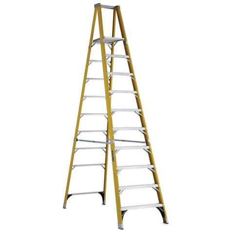 Home Depot 10 Foot Ladder by Louisville Ladder 10 Ft Fiberglass Platform Step Ladder