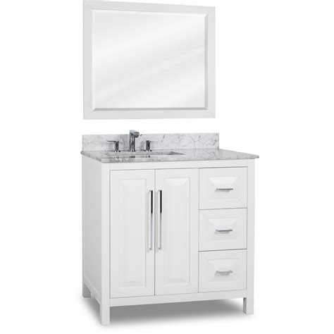 hardware resources shop van104 36 t vanity white