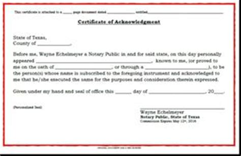 certificate of acknowledgment by notary services