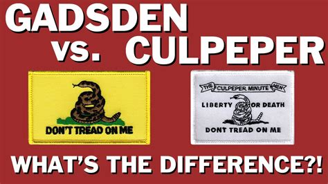 what is the difference between gadsden flag and culpeper