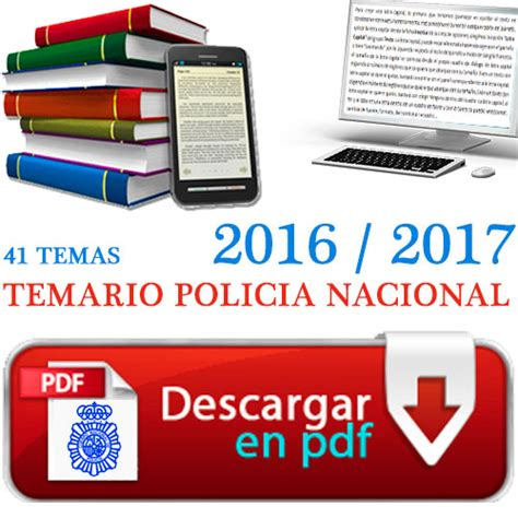 temario policia nacional pdf 2016 2017 comprar temario policia nacional 2016 2017