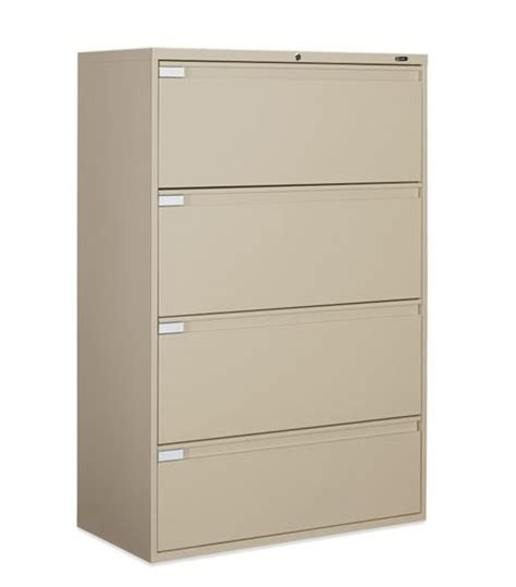 global 30 four drawer lateral file cabinet w fixed door