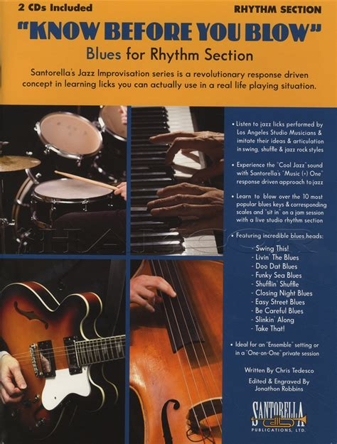 what is a rhythm section know before you blow blues for rhythm section sheet music