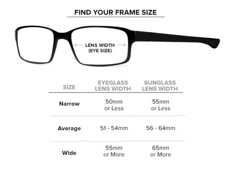 prescription glasses prescription sunglasses size guide