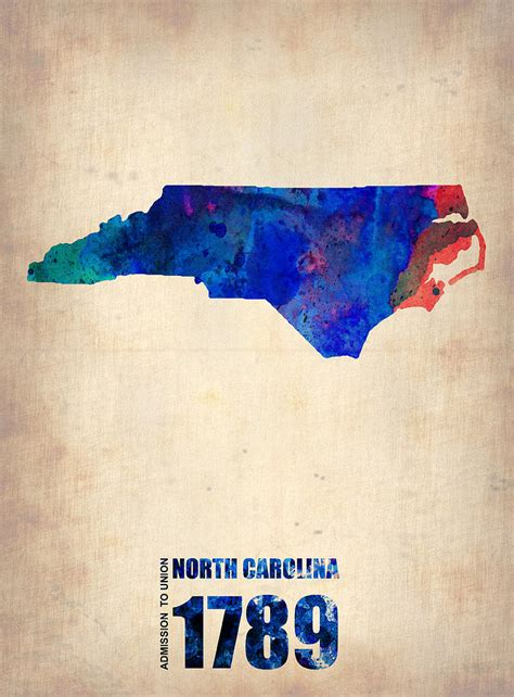 watercolor tattoo north carolina carolina watercolor map by naxart studio