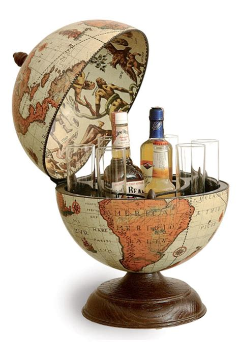 Miroir Metal 3066 by Mappemonde Globe Terrestre Bar De Table Safari Vintage