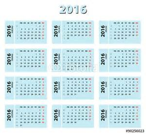 Calendar Which Shows Week Numbers 2016 Monthly Calendar With Week Numbers Blank Calendar