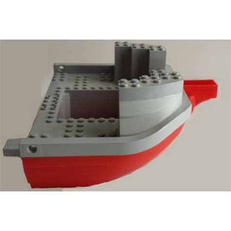 lego boat hull lego red boat hull 16 x 22 with medium stone gray top