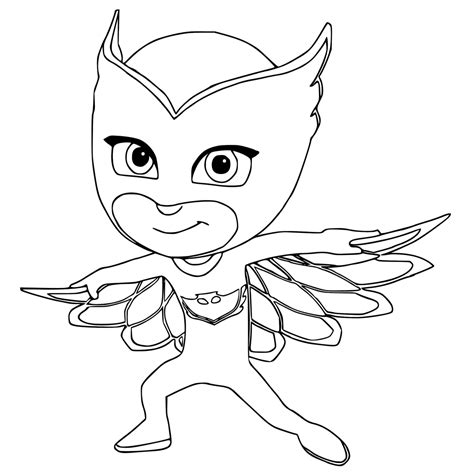 Printable Coloring Pages Pj Masks Free Image Pj Masks Catboy Coloring Pages Free