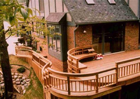 Patio Deck Railing Designs Patio Deck Railing Design Curved Deck Railing