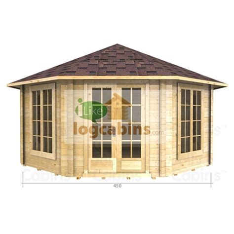 octagon log homes 4 5 x 4 5 octagonal log cabin 34mm