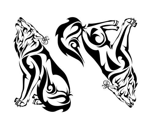 tribal pattern wolf wolf tribal by sleepingvelvet on deviantart