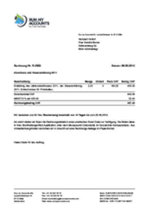 Musterrechnung In Die Schweiz Wie Schreibe Ich Eine Korrekte Rechnung Run My Accounts Ag