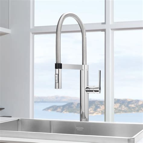 Kitchen Modern Kitchen Design With Cool Stainless Steel Designer Faucets Kitchen