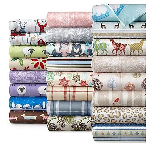 bed bath and beyond flannel sheets micro flannel 174 printed sheet set bed bath beyond