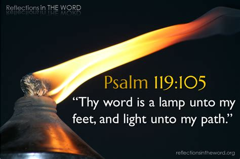 Psalm 119 Thy Word Is A L by Psalm 119 105 Reflections In The Word