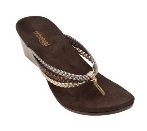 orthaheel wedge sandals vionic w orthaheel ramba orthotic wedge sandals page 1