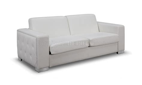 white convertible sofa alfa sofa bed convertible in white faux leather by whiteline