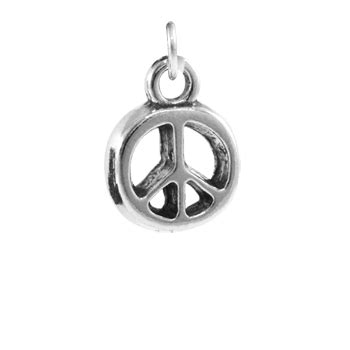 Best Quality Peace Charm sterling silver catcher charm