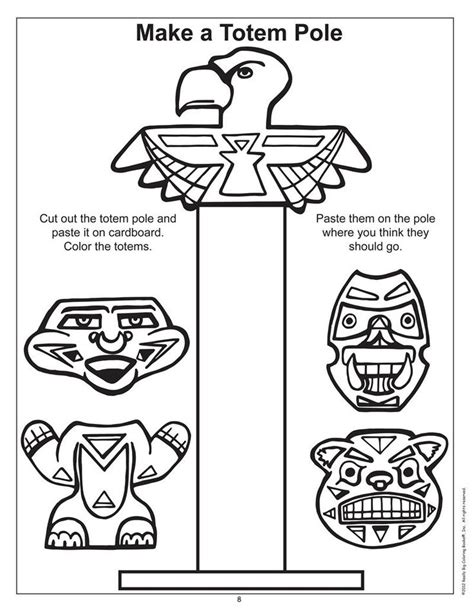 Totem Pole Template by 6 Best Images Of Printable American Totem Poles