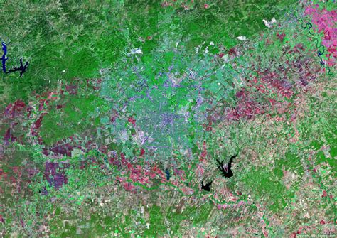 texas satellite map satellite images of united states cities landsat