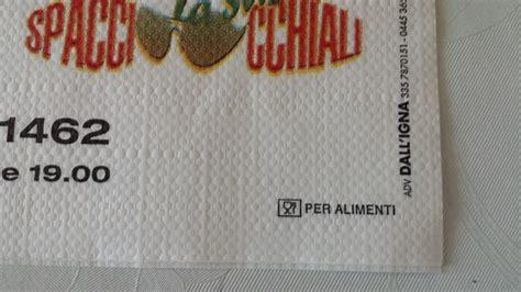 logo per alimenti tovagliette di carta personalizzate certificate per