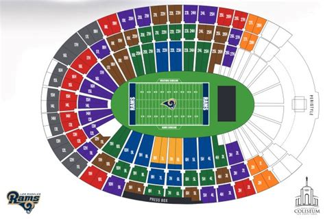 Sia Tickets Calendar May 2018 Bowl Los Angeles by Los Angeles Coliseum Seating Chart Rams Brokeasshome