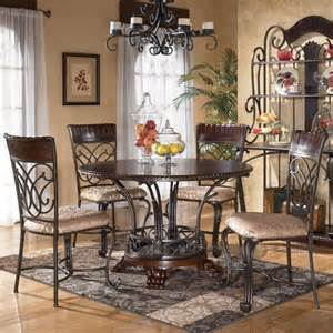Ashley furniture alyssa 5 piece round dining table amp side chair set